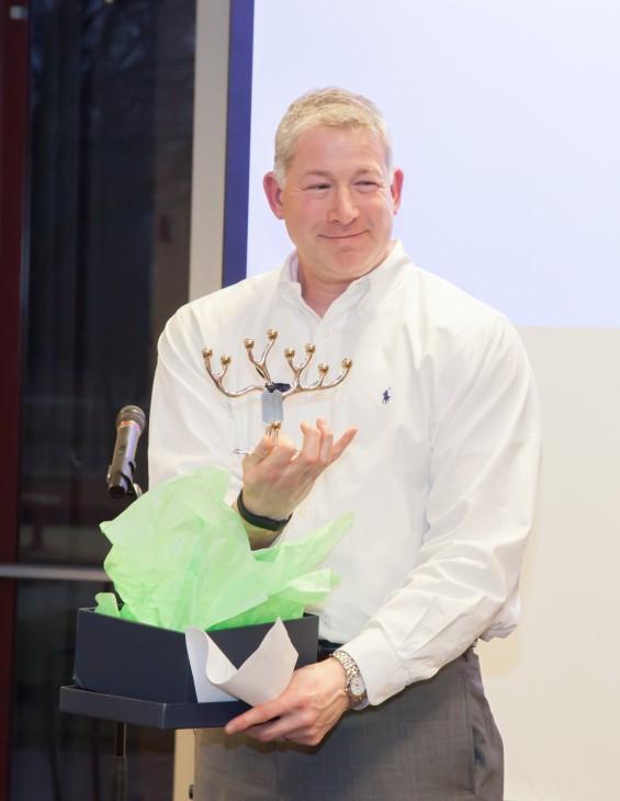 Keith with award